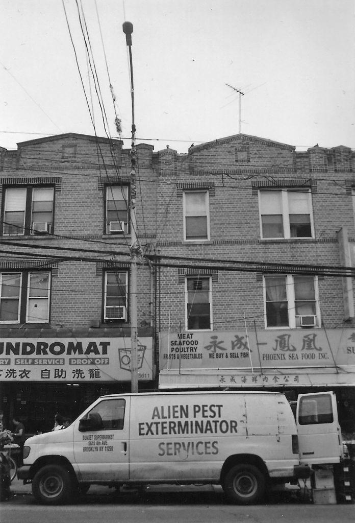 »Alien Pest Exterminator Services« (Fotografie, digital bearbeitet), 2018